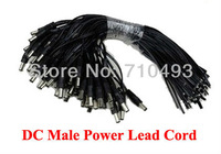 High quality DC Power Lead Male cable pigtail for CCTV camera power 500pcs / Lot Free Shipping