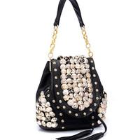 fashion women's handbag rivet shoulder Bags tassel Women messenger bags casual bag HAB814 LADY STYLE