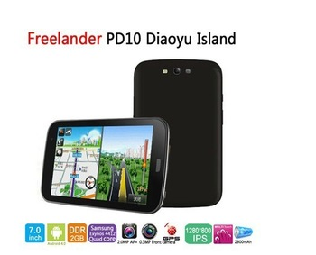 On Sales! 7'' Quad Core Freelander PD10 Diaoyu Island Tablet PC With Android 4.0 2GB/16GB GPS 3G Dual Camera Exynos4412