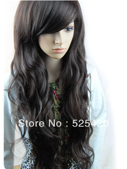 Top Sale NEW Stylish Long Women Healthy Natural Hair Wave Curly Full Cosplay Wigs(China (Mainland))