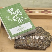 GRANDNESS 2013 yr Bulang Mountain Natural Wild Tea Brick tea Cooked Ripe 200g Hekai Mountain