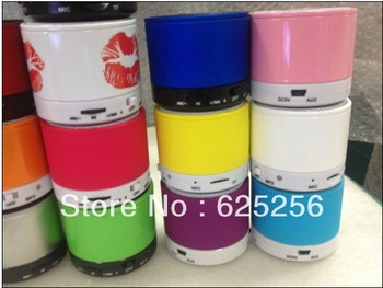DHLfree shipping wholesale-50pcs a lot Wireless Loudspeaker Mini Bluetooth Speaker For iPhone5 MP4 MP3 Tablet PC HiFi