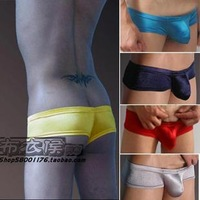Free shipping (2pieces)   Falcon male panties u bags silky ultra-low-waisted slim hip sexy