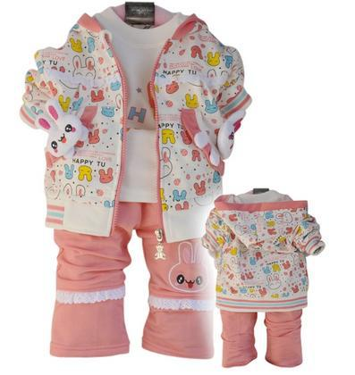 free shipping! wholesale baby girl clothing set, 3 piece/set, cotton fabric, high quality suit for spring/autumn/winer, B016(China (Mainland))