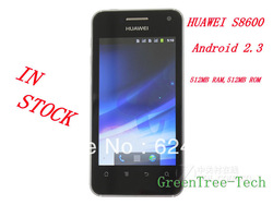 HUAWEI S8600 Spark 3G Cellphone Snapdragon MSM 7627T 800Mhz Android2.3 Dual-SIM CDMA+GSM 3.7&#39;&#39;WVGA GPS+WIFI LED Light(China (Mainland))