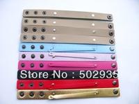 50pcs 18+8mm-2  PU Wristband Bracelet DIY Accessories
