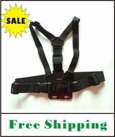 On Sale FREE SHIPPING Chest Mount Harness adjustable Chest Strap Belt without screw For Gopro Hero1 Hero2 Hero3  (with pouch)