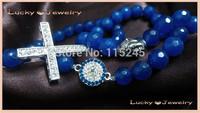 Free Shipping Fashion Rhinestone Cross, Crystal Evil Eye, Buddha Bracelets Turkish Silver jewelry  BS143