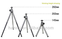 Free Shipping +Tracking Number 1pc Copper Tripod with 3 sections Metal Tripod for Digital Camera Max Load 800G