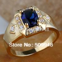 Men Wide Cross Shape White Topaz Black Onyx Blue Sapphire  Ring R117 GFLM Size 10 11 12  13 J8200 Promotion