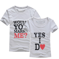 men women fashion couple t shirt tops for 2014 lovers summer printed london style cotton casual clothes clothing designer brand