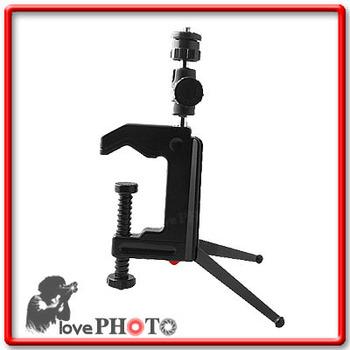 Mini Portable Clamp Tripod Swivel Camera Stand Tripod or Table C-Clamp for Camera, Camcorder and DSLR & SLR