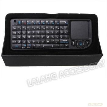 Free Shipping 1pcs/lot Black Mini HTPC Bluetooth Keyboard Touchpad Media Centre 740064