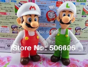 Super Mario Bros Action Figure Toy 2pcs set PVC figure mario luigi 5inches free shipping