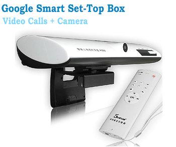 2013NEW  Voice calls android4 0 set top box With camera WIFI Smart TV Box vga 1080P HD