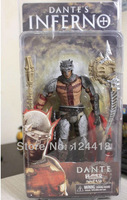 Free Shipping NECA Dante's Inferno PVC Dante Alighieri Figure Action Toy Doll 7""
