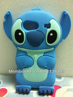 Free Shipping 3D Stitch Silicone Cover Case for Samsung Galaxy S Advance i9070 Free Shipping
