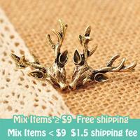 fashion Europe vintaged Antler deer head earrings wholesale! ! ! free shipping