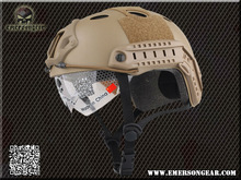 NEW Emerson FAST Helmet with Protective Goggle Pararescue Jump Type helmet Military airsoft helmet Dark earth 8819(China (Mainland))