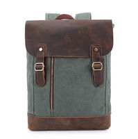 3 colors genuine leather canvas backpack men luggage & travel bags women  FP42