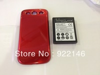 New extended battery with cover for samsung galaxy note III I9300 rechargeable battery free shipping