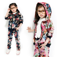 Hot-selling children's clothing medium-large female child summer new arrival 2013 paragraph casual fashion 2 zipper set
