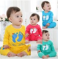 Free shipping baby pajama baby suit baby set   baby clothing boy's set  0~2years