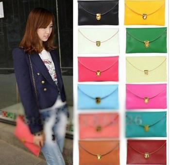 2014 New Hot Promotionfashion Envelope Clutch Womens Chain Purse Handbag Messenger Tote Shou