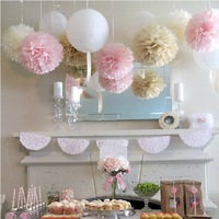 1000pcs/lot Free Shipping Party Paper Pom Poms Dia  8'' Wedding/Birthday Party Home Decoration Paper Flower Muti-color Options