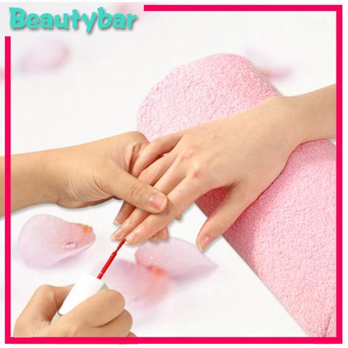 Freeshipping Soft Cotton Nail Salon Hand Cushion Pillow Nail Art Design Manicure Care Half Column 6pcs /lot(China (Mainland))