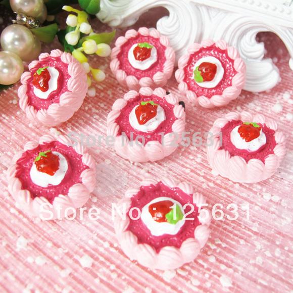 Free shipping!Min. order 15 USD+ No MOQ kawaii flatback resin food cabochon decoration Size: 21*21mm(China (Mainland))