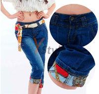 Free Shipping Harem Pants Denim Jeans Light Blue Dark Blue Available New Arrival British Style Harem Trousers YS-Linggan-1868-1