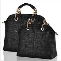 2013 New arrival good quality composite cow leather CROCO modern design women handbag/Shoulder Bag