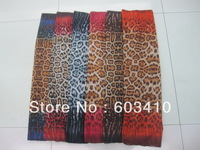 MOQ 500pc/design sexy  Leopard pattern scarf  Fashion polyster scarf with low price and high quality