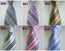 Wholesale 5pcs/lot Classic Man's Silk Stripe Tie Necktie Men's suits tie Necktie pinstripe stripe free shipping M012(China (Mainland))