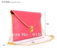 Free Shipping Lady/Woman/Girl Stylish Classic Envelope Clutch Chain Purse HandBag Shoulder Bag