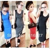 2013 Red,Black,Grey,Blue summer Fashion lady Long Skirt slim full skirts feet length a line high waisted hip women skirts