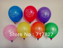 10000pcs/lot Free Shipping Wholesale Advertisement Balloons Quotes Based On 10'' 1.5gsm 1Color Logo Printing 7-8Colors Options(China (Mainland))