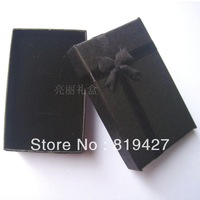 Free Shipping,24pcs/lot 5x8x2.5cm Black Paper Earring/Necklace/Two Rings/Bracelet Jewelry Display Packagaing Gift Box