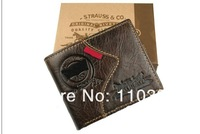 Free shipping+2013 new stylish Men wallet+genuine Leather +Pockets Clutch Cente Bifold Purse ,100% guarantee+wholesale W-A01
