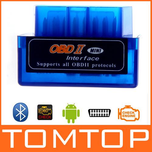 Mini V1.5 ELM327 ELM 327 OBD2 Bluetooth Interface Auto Car Scanner obdii obd ii Diagnostic Tool works on Android Windows Symbian(China (Mainland))