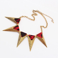 Min.order is $10 (mix order) High quality ! Fahion Europe Exaggerated spike necklace wholesale Free shipping!N0011