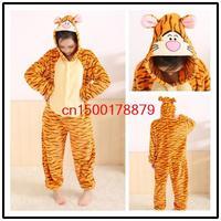 Winter sleepwear for women/men animal pajamas winter fleece cosplay costume cartoon unisex pyjamas by0025 Jump Tiger S M L XL