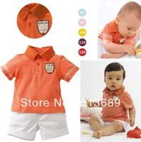 Free Shipping&5pcs/lot!summer 2013 cotton denim pant,kids summer sets,fashion print children suit,korean kids clothes wholesale
