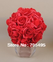 8''  20cm Artifiical Kissing Foam Rose Flower Ball Wedding Centerpiece Decorative Flowers & Wreaths 12pcs/lot Free Shipping