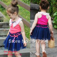 Free shipping Summer new arrival Europe style girl one piece dress,children dresses,kids dresses,5pcs/lot