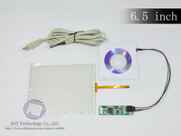 """2014 Hot sell 6.5"""" 4 Wire Resistive Touch Screen Panel Digitizer 146.2x114.5mm+USB Controller for 6.5 Inch LCD W7"""