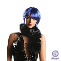 Hot selling Fans wig party Caveman for Fashion Party / Cosplay / Halloween/Cheap anime party hair blue wig Free Shipping