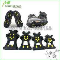 Free Shipping Hot Selling 1pair Anti Slip Ice Snow Walking Shoe Spike Grip Camping Climb Ice Crampon Ice Walking Cleat