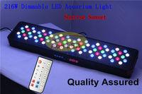 Auto Dimmable Led Coral Reef Aquarium Light 216W Artemis 72x3W Remote Control + Fan Control + Temperature Control + Lens Design